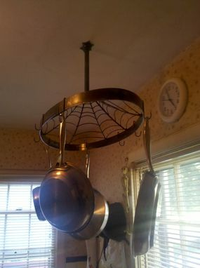 Custom Made Pot Rack - Spider Web
