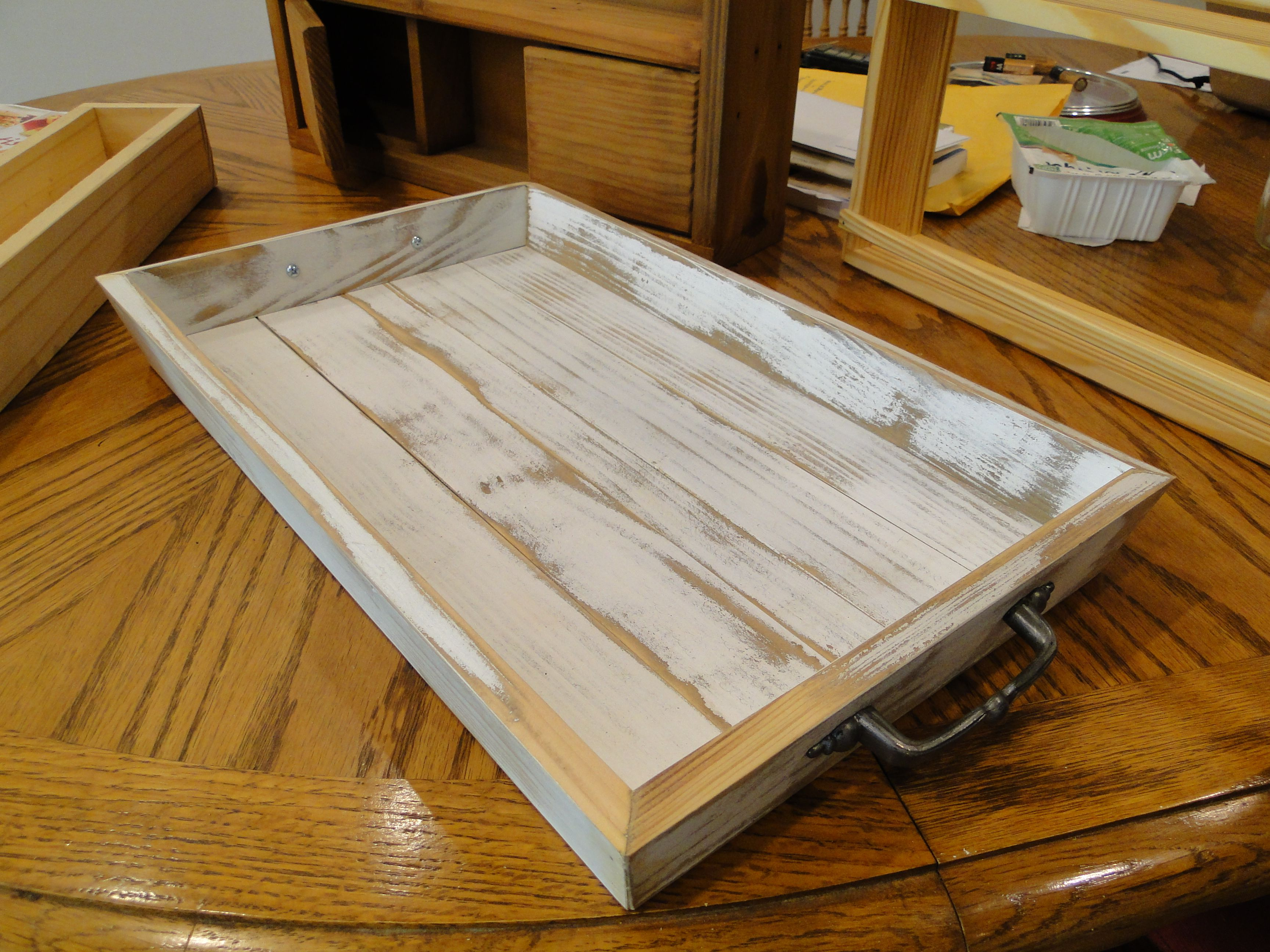 Cool Buy Custom Made Distressed Serving Tray Wooden With Splayed Spiritservingveterans Wood Chair Design Ideas Spiritservingveteransorg
