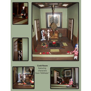 Custom Made Miniature Rooms, Food, Furniture And Figures