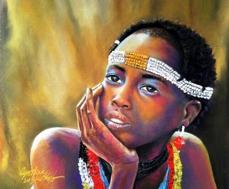 Custom Made Oil Or Soft Pastel Portraits -The Dreamer