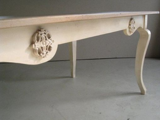 Custom Made Sculpted Base On Oak Table