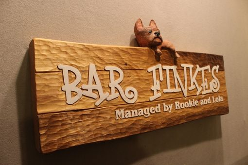 Custom Made Custom Carved Dog Signs, Puppy Signs, Cat Signs, Pet Signs
