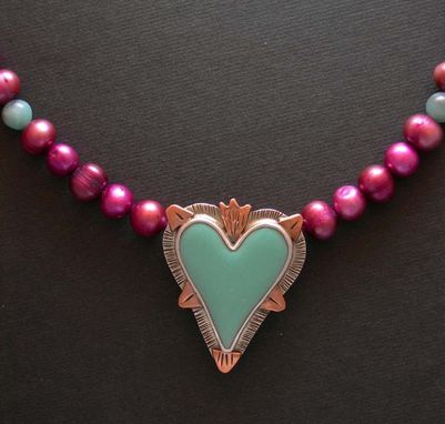 Custom Made Heart Necklace Pendant- Enamel