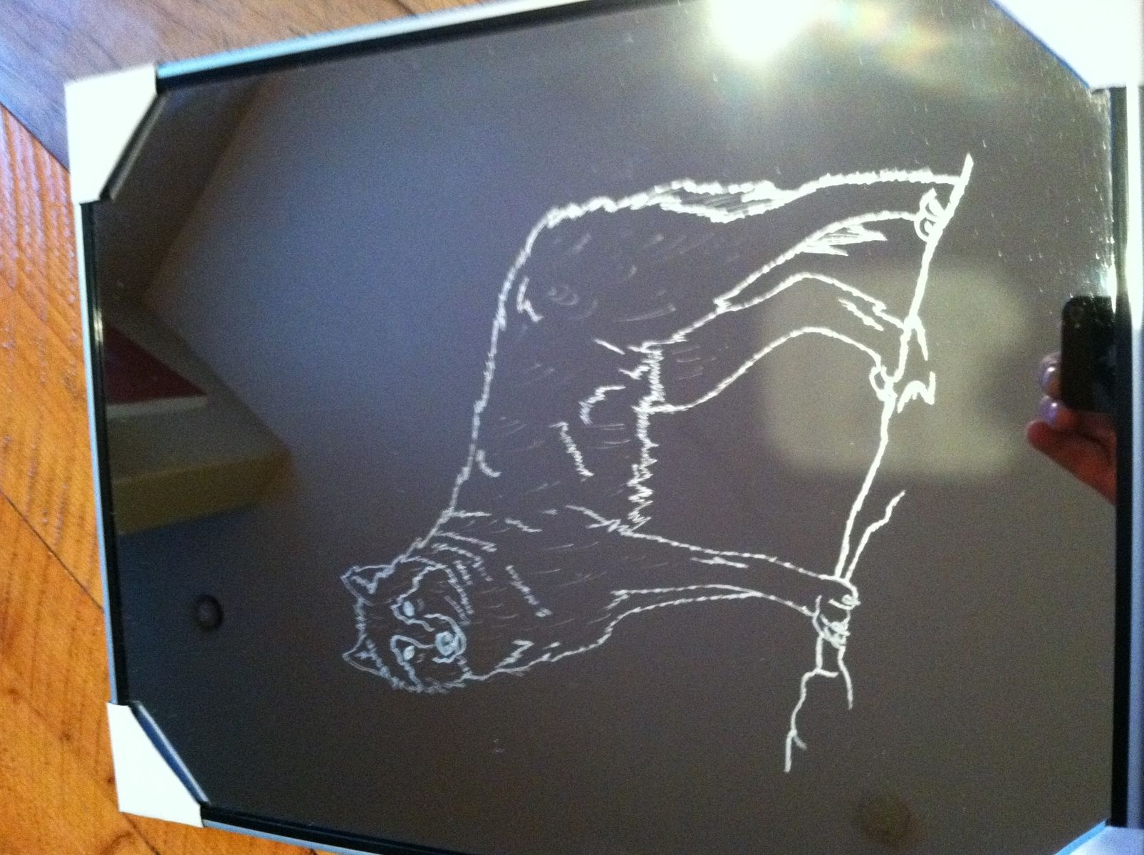 Handmade Etched Mirror By Custom Glass Etching