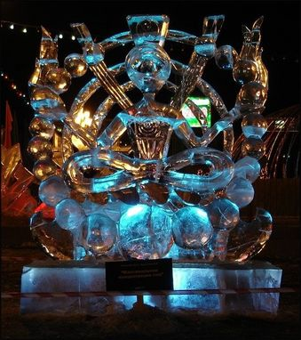 "Custom Made Ice Sculpture ""Om"""