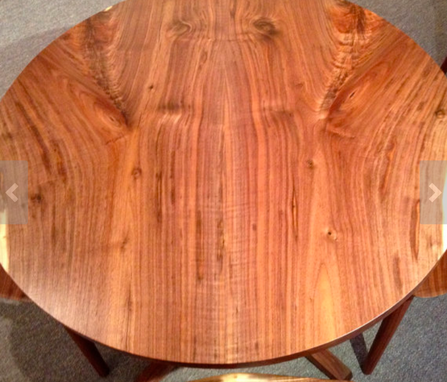 Custom Made Round Walnut Table