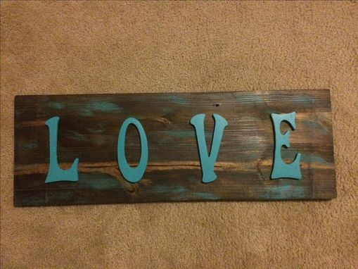 Custom Made Wood Sign With Raised Painted Letters
