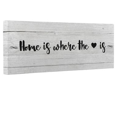 Custom Made Home Is Where The Heart Is Canvas Wall Art