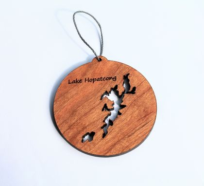 Custom Made Custom Lake Outline Wood Ornament