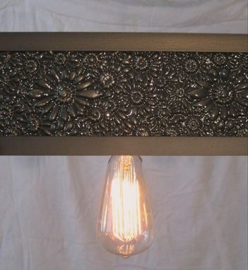 Custom Made Cast Iron And Steel Light Fixture