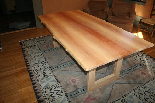 Custom Made Sycamore Dining Table With Live Edges