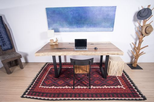 Custom Made Live Edge Wood Slab Table - Ideal For Dining Table / Office Desk