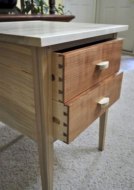 Custom Made Silver Maple End Table