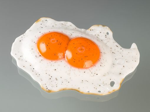 Custom Made Glass Sunny-Side-Up Fried Egg