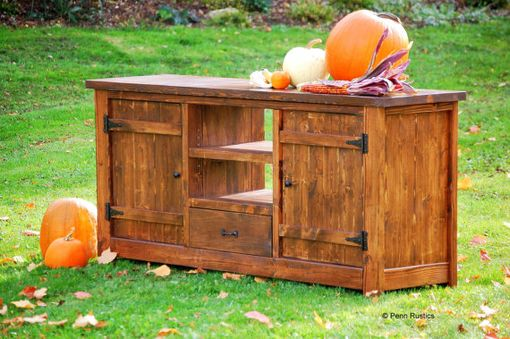 Custom Made Rustic Entertainment Console Buffet