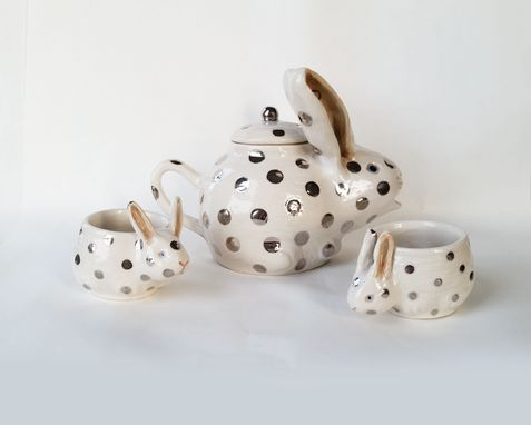 Custom Made Rabbit Tea Set