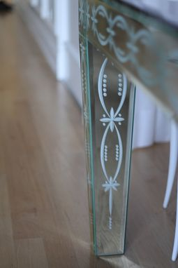 Custom Made Etched And Glazed Table