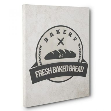 Custom Made Bakery Fresh Bread Canvas Wall Art