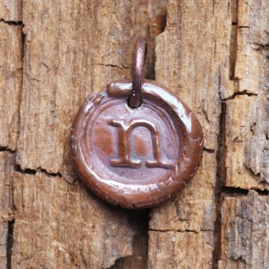 Custom Made Personalized Copper Monogram Charm
