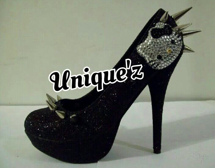 4d7341a8aa2 Buy a Hand Made Hello Kitty Heels (Spiked Kitty - Black), made to ...