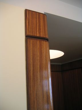 Custom Made Art Deco Zebrawood Foyer