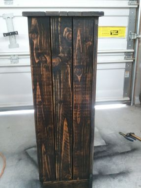Custom Made Black Distressed Wood Jelly Storage Cabinet