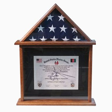 Custom Made Special Missions Military Flag And Certificate Display