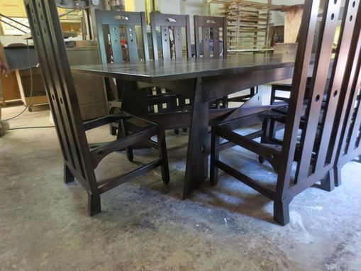 Custom Made For Sale Now, Charles Rennie Mackintosh 'Style' Dinning Room Table And Chairs.