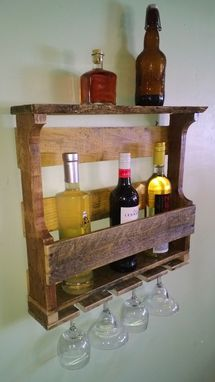 Custom Made Rustic Reclaimed Recycled Pallet Wine Rack