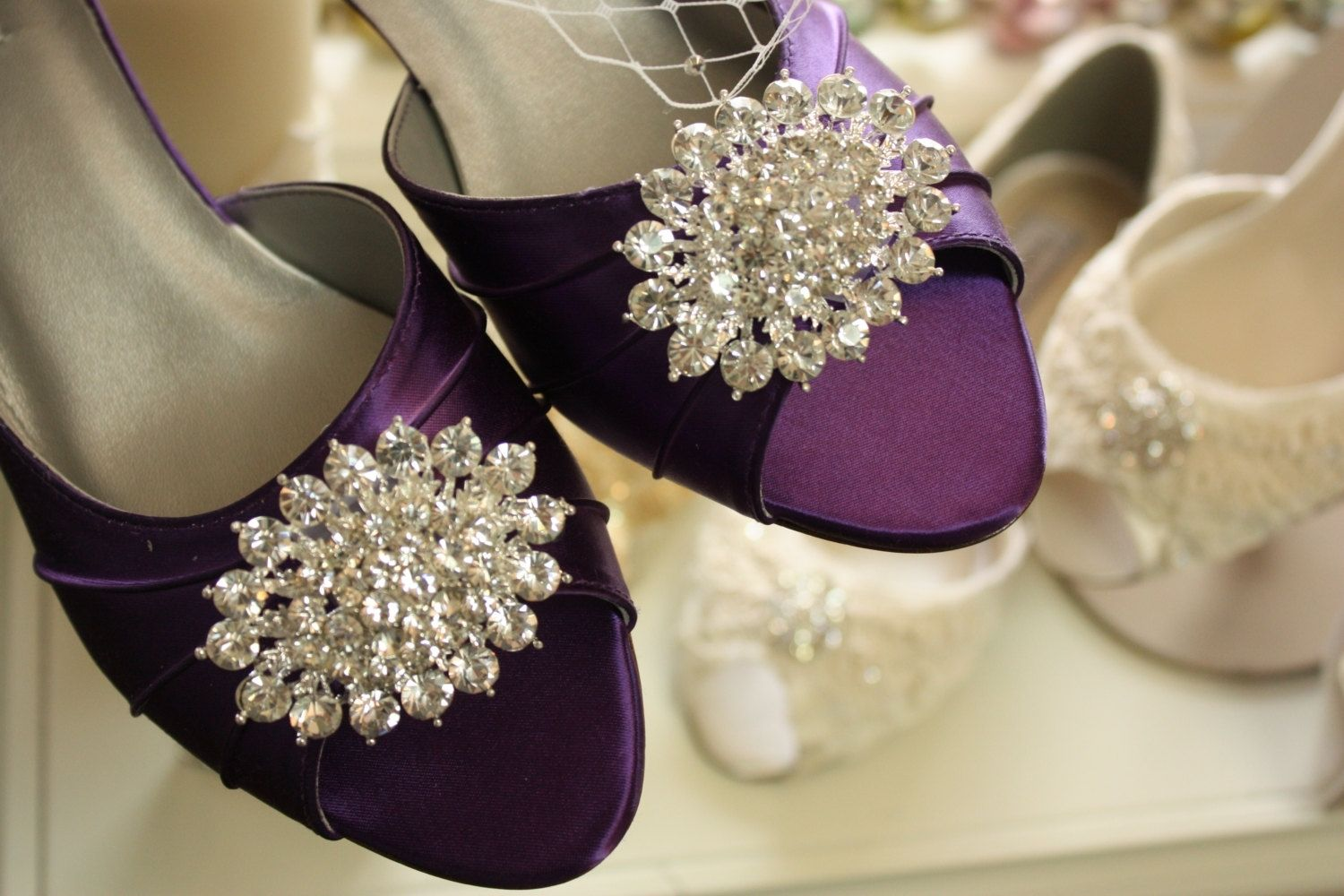 Handmade Purple Wedding Shoes by Parisxox By Arbie Goodfellow ...
