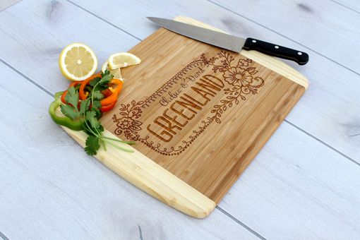 Custom Made Personalized Cutting Board, Engraved Cutting Board, Custom Wedding Gift – Cb-Bam-Greenland