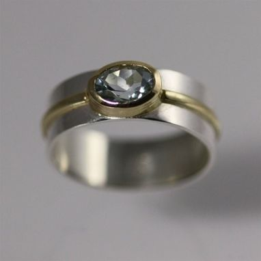 Custom Made 1 Stone Oval Wrap Ring 14k (Aquamarine) (Made To Order)