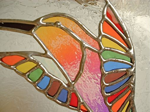 Hand Made Stained Glass Jewelry Boxes Flower Bird