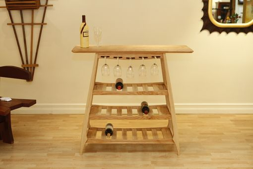 Custom Made Le Vendange Wine Serving And Storage Table