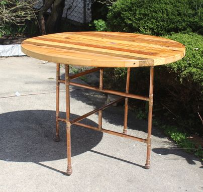 Custom Made Reclaimed, Old Growth 2x4 & Copper Pipe Kitchen Table