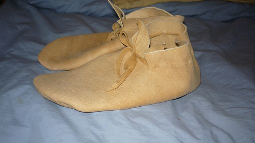 Custom Made Braintan Leather Plains Style Soft Soled Moccasins