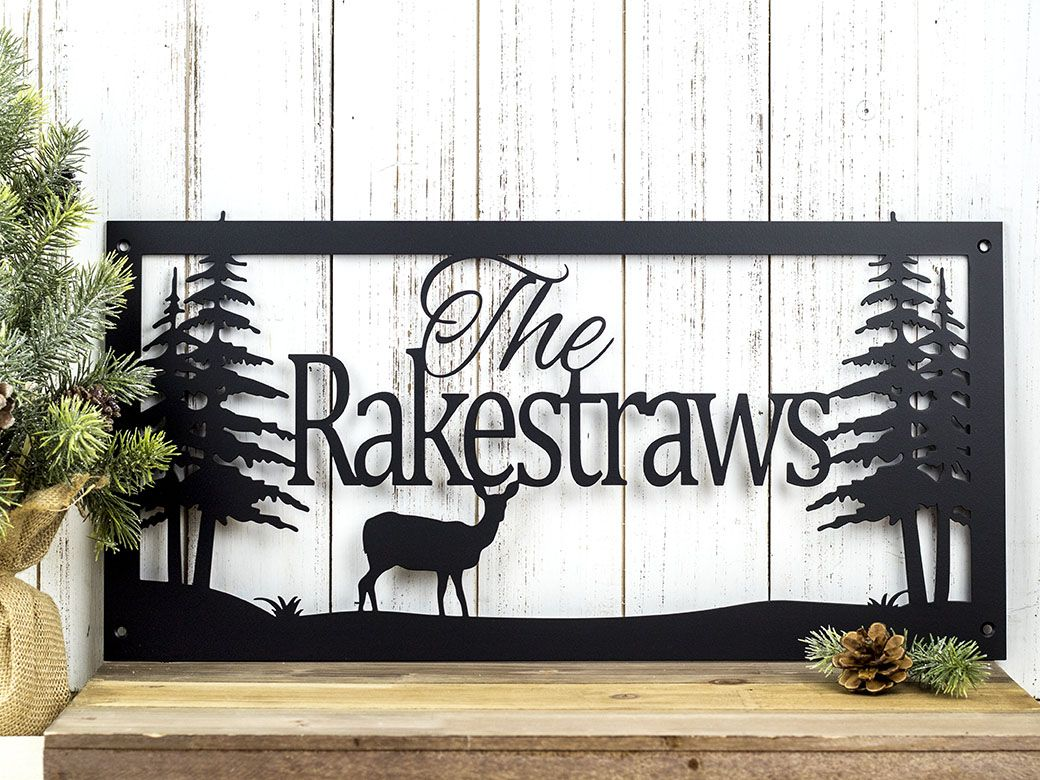 Buy a hand crafted custom name sign metal sign for Custom decor inc