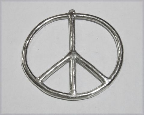 Custom Made Custom Round Solid Sterling Silver Peace Sign