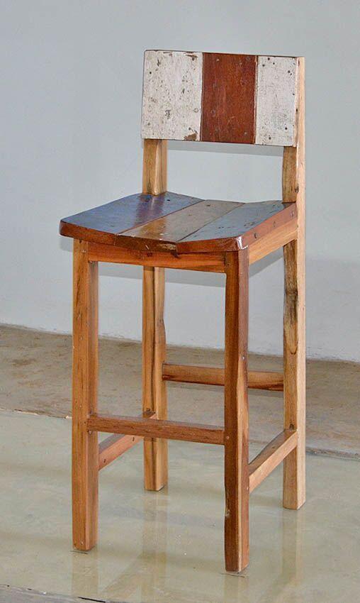 Prime Buy Handmade Reclaimed Teak Bar Chairs Made From Reclaimed Ncnpc Chair Design For Home Ncnpcorg