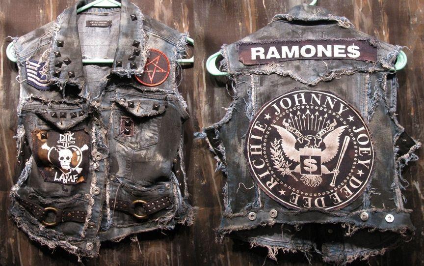 aab9ff5d802c Handmade Custom Vest Rock Metal Punk Stage Rockstar Leather Denim by Kylla Custom  Rock Wear