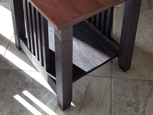 Custom Made Two Tone End Tables
