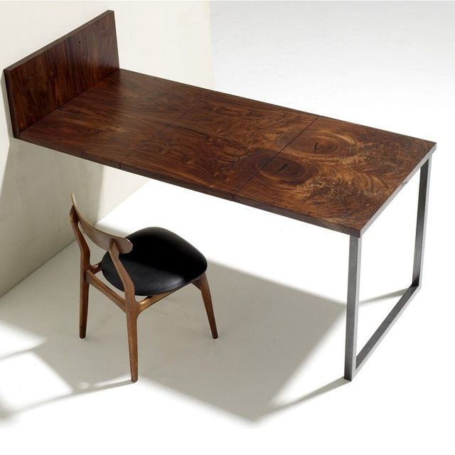 Custom Made Walnut And Steel Folding Dining Table By Anand Gowda Design Custommade