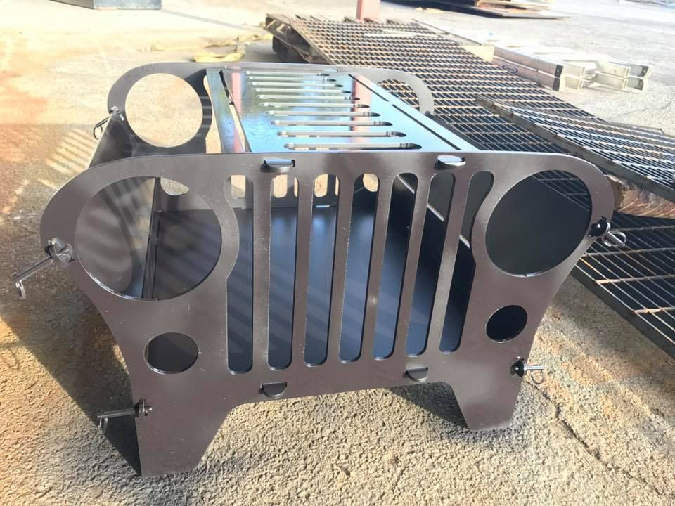 Custom Made Custom Jeep Fire Pit And Grill - Buy A Hand Crafted Custom Jeep Fire Pit And Grill, Made To Order