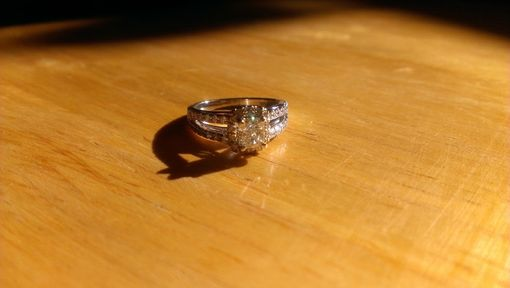 Custom Made Cushion Cut Halo With Split Shank Engagement Ring