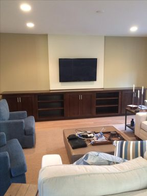 Custom Made Media Center Cabinetry