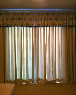 Custom Made Lined Drapery Panels With Euro Pleats