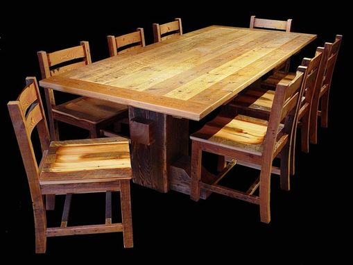 Custom Made Timber Barron Reclaimed Barnwood Dining Set