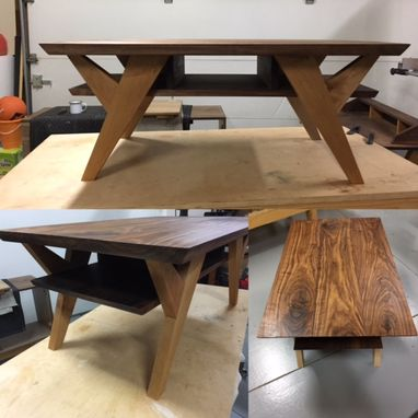 Custom Made Ranchwood: Modern Walnut + Alder Coffee Table