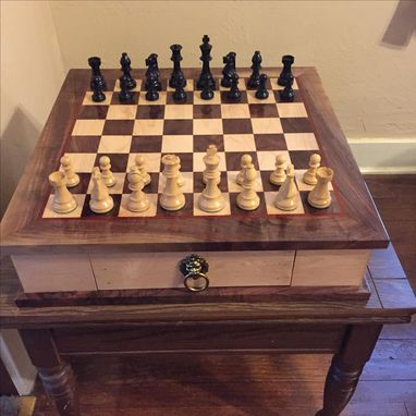 Custom Made Chessboard With Drawers