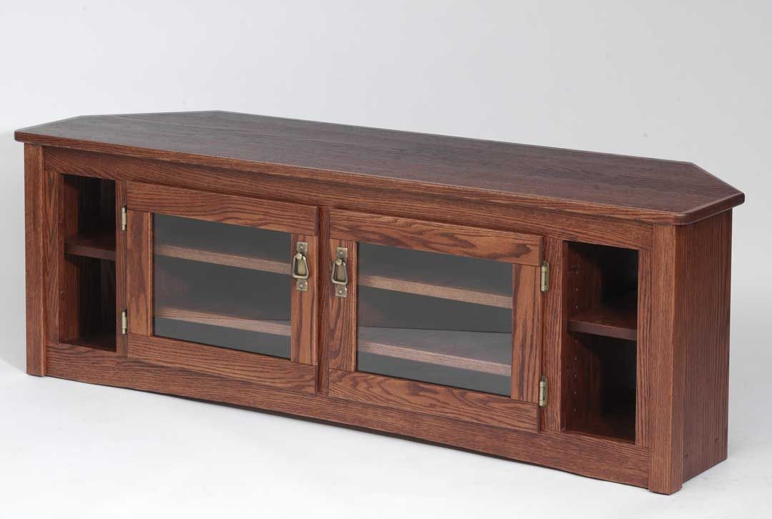 custom made solid wood stand mission oak plasma corner dark tv stands 60 inch cherry with fireplace for flat screens
